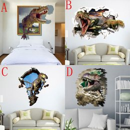 60*90cm New 3D World Wall Stickers Decorative Wall Decal Wallpaper Party Decoration Christmas Wall Art Dinosaur