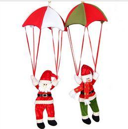 Christmas ornament Santa claus snowman ornaments parachute Xmas decoration 4 design available free shipping