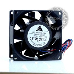 New 8CM high speed automotive supercharger conversion 3.3A 12v PFB0812DHE fan violence 80 * 80 * 38mm