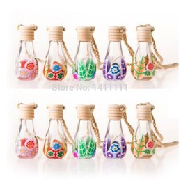 Factory Price Wholesale Glass Perfume Bottle 12ml Polymer Clay Vials for Essential Oil Car Decoration Fragrance Bottle 100pc lot