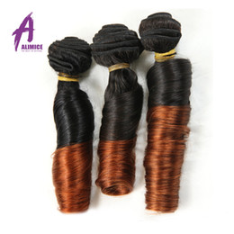 Ombre Hair Extensions 7A Grade Brazilian Aunty Funmi Hair 3pcs lot 1B 30 Brazilian Bouncy Curly Weave Unprocessed Human Hair