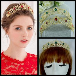 Wholesale Sparkling Diamond Big Crown Rhinestone Bridal Tiaras In Stock Wedding Accessories Hot Sale Wedding Hair Hair Crown New