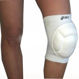 Wholesale White guard Asics support Quality brace PU Gel polyester sleeve Basketball Volleyball Dancing Sport Knee sleeve