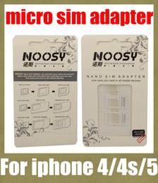 Wholesale Sim Unlock Adapter Card - noosy sim card adapter nano sim adapter tray holder sim card tray for iphone 5 4s 4 micro sim card tray for most mobile phone OTH022