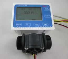 Wholesale G1 quot Flow Water Sensor Meter Digital LCD Display Programmable Quantity Quantitative Control L min