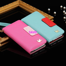 Wholesale i6 S Plus Hit Color Seires Flip Wallet Case For iPhone Plus S Plus Retro Card Slot Holder PU Leather Cover Fly Bird Logo