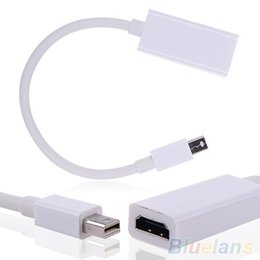 Wholesale Mini Display Port Thunderbolt DP To HDMI Adapter Cable For Mac Macbook Pro Air JHH