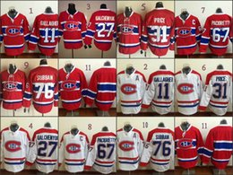 Wholesale Brendan Gallagher Lace Front American Premier Hockey Jerseys Ice Winter Home Away Jersey Stitched Authentic