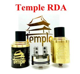 Wholesale Temple RDA Rebuildable RDA Atomizers Airflow Control mm Post Holes mm Dual Post Atty With Extra AFC Ring Fit Box Mod
