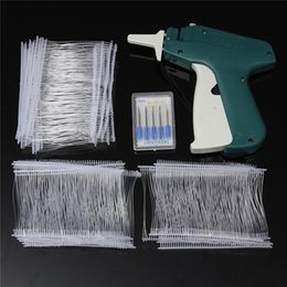 New Durable Plastic Garment Clothes Price Label Tagging Tag Guns + 1000 Barbs + 5 Needles Machine Set