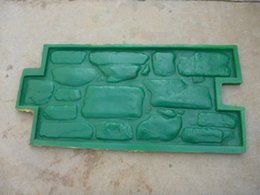 Wholesale Floor ground wall handle cobblestone road plastic mold embossed printing Park squaresurface decoration cobblestone furnish mould