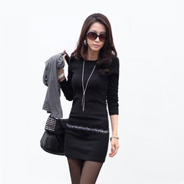 Wholesale New Spring Women Long Sleeve Sexy Slim Dress Winter Micro Tight Knit Sweater Rhinestone Long Pullover Plus Size XXXL XL S097