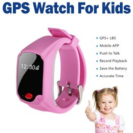 GPS Watch Tracker for Child Kid GPS+LBS Real Time Tracking With Mobile App And Time Display