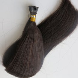 Pre bonded Stick I Tip brazilian human Hair extensions 100g 100Strands 18 20 22 24inch #1B Off Black Indian hair products