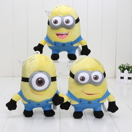 Wholesale 3d eyes inch despicable me cartoon god steal dad glasses soybean Stewart Dave and Jorge plush toys styles