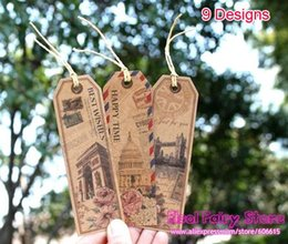 Wholesale New Designs Europe Architecture Design mix High Quality Printed Gift PatternTags Old time Bookmark Gift tag