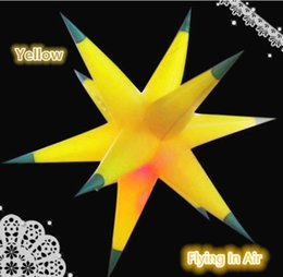 2m LED Lighting Color Changing Decor Inflatable Star for Party and Event