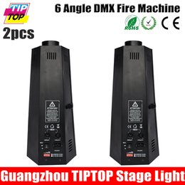 Wholesale 2pcs Angle W stage fire Machine Flame Projectors Spray Fire Machine Controlled by DMX512 and Manual Stage Light fire machine