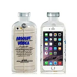 Wholesale Stylish Vodka Bottle Absolut Vodka Design Alcohol TPU Crystal Transparent Soft Rubber Gel Case Cover Compatible With Iphone S