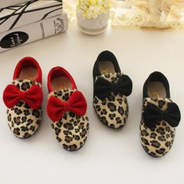 fashion leopard print princess single shoes leisure girls school shoes fashion children shoes girls sheos
