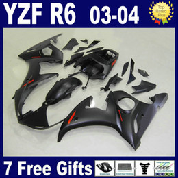 Flat matte black fairing kit for 2003 2004 YAMAHA R6 fairings 03 04 YZF R6 fairing kit bodywork parts