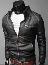 Fall-Factory Direct 2015 New Men Motorcycle Jackets Male Leather & Suede Jaquetas de Couro Masculina Male PU genuine Coat