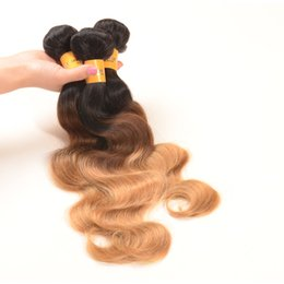 Top Selling! Brazilian Ombre Hair Extensions 1b 27 and 1b 4 27 Brazilian Ombre Hair Bundles Cheap Brazilian Hair