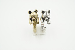 Min 1pc Danity Cute Bear Wrap Ring for Woman Girls Adjusable Ring Retro Burnished Ring Animal Ring Great Gift For Animal Lovers JZ306