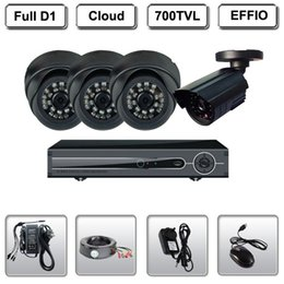 CCTV 4CH Full D1 DVR Recorder 700TVL CCD Cameras Kit