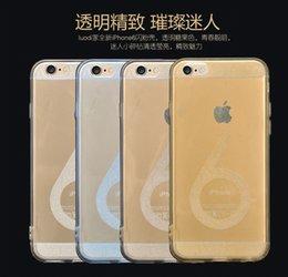 Promotion cas transparents pour iphone 4s Nouveaux arrivages pour Iphone 6 Plus Cases Num 6 Motif brillant Bling Soft TPU Gel Couverture Transparent Clear Case pour Iphone 4 4S 5 5S 6 6 Plus