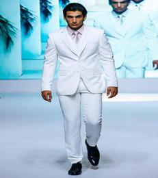 Wholesale-Jacket+Pants+vest Wedding Tuxedo For Men Groom Suits Single Breasted Groomsmen White Tuxedo Trajes De Novio Formal Business Suit