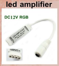 led amplifier rgb amplifier rgb led controller dc12v Flat Female Jack Connector Mini LED RGB Amplifier Controller For LED Strip Light DT020