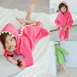 Wholesale Children Towels Robes Baby Bathroom Towels Kids Beach Towels Boys Girls Beach Cotton Towels Kids Bath Towels Childrens Sleepwear