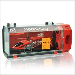 Wholesale Best Gift Exquisite Box CH RC Helicopter Remote Control Helicopter With Build in Gyro and Light Free Shippng