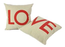 """18 X 18"""" Cotton Linen Decorative Couple Throw Pillow Cover sofa couch car office decor Cushion Case Couple Pillow Case"""