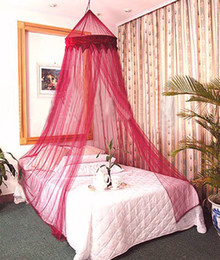 DREAMMA BURGANDY MOSQUITO BUG NET BED CANOPY BEDROOM CURTAIN CANAPY DECOR DOUBLE RED WINE