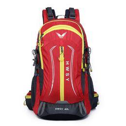 5 colors 40L waterproof men's travel bags outdoor climbing bag Women camping hiking backpacks professional climbing bags