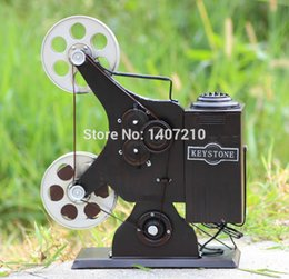 Wholesale zakka Iron Crafts Classics Retro vintage antique film Projector office home bar decoration gift