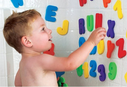 New Baby Bath Toy 36pcs Soft Foam Letters Numbers Classic Baby Early Educational Tool