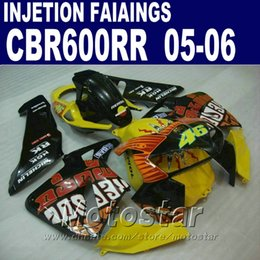 Yellow custom fairing! Injection Molding for HONDA CBR 600 RR fairing 2005 2006 cbr600rr 03 04 cbr 600rr fairings kit TJCE