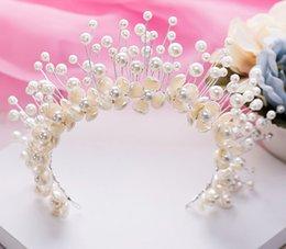 Wholesale The bride adorn article Korean original knot wedding pearl hair bride crown head wedding photography accessories