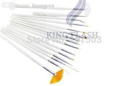 Wholesale-2015 Hot Sales Nail Art Brushes Set For Nail Art Design & Painting Nail Tools 540