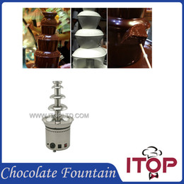 Wholesale Stainless Steel Household Chocolate Fountain Full Chocolate Waterfall Machine Fast Delivery Mini tier CE Standard Chocolate Making Machine