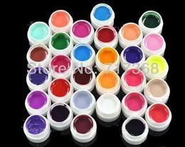 Free Shipping 30pcs Colors Pure Colour uv gel, Uv gel Set, Builder Gel for nail art