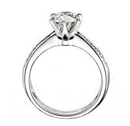 Fine silver sona lab diamond Wedding rings for women,White gold round brilliant wedding band,wedding ring set,Eternity band