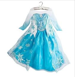 2016 frozen Girls Dresses Long Sleeve Princess Dress Kids Clothes Girl Dresses Formal Dress Enfant Kids Clothing Formal Dress Enfant Clothes