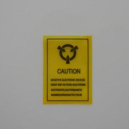 """Etiquette électronique à vendre-500pcs / Lot 1.57 """"x0.86"""" statique Attention Device Sensitive Rappel Mark Seal adhésif auto ESD antistatique électronique Étiquette d'avertissement"""