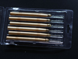 Wholesale 48 pieces per Micro Ring Hair Extension Wooden Pulling Needle Threader Feather Hook Tool