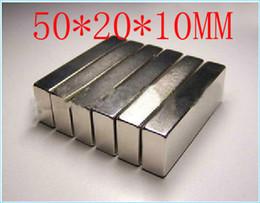 Bloc magnétique 50 x 20 x 10 mm aimant puissant engin aimant néodyme néodyme de terre rare aimant puissant permanent n50 n52 strong neodymium magnet deals à partir de aimant néodyme forte fournisseurs