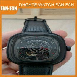 Wholesale Sevenfriday P3 Automatic Watch Industrial Engine Black PVD Red Box and Papers
